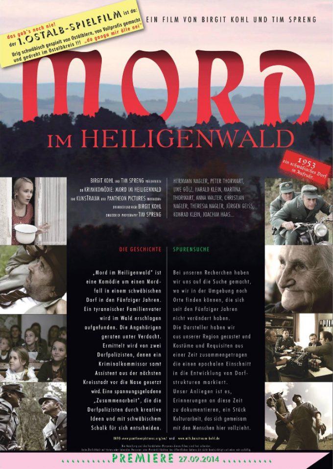 Das Filmplakat zu Mord im Heiligenwald hier zum Download